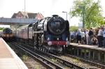 70013 Oliver Cromwell arrived at Poole on The East Anglian excursion from Norfolk