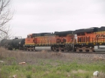 BNSF 4600 #2 power in a WB manifest waiting for an EB in the siding