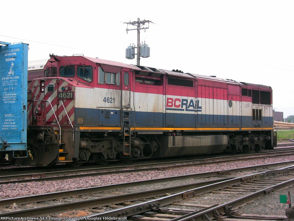 Red, White, and Blue...its a BC Rail unit!