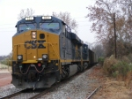 CSXT 881 on the lead of a tied down empty GALX coal train