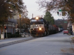 NS 155 crosses Greene Street as he makes his way down 6th Street