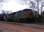 CSXT 914 idles away outside the yard with an empty GALX coal train