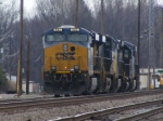 CSXT 882 along with a line of locomotives sit on the Engine Track