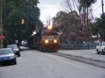 NS 156 starts back down 6th Street after flagging Telfair St.