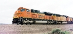 BNSF 9261 leads eb loads