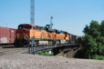 BNSF 5755 Leads A South Bound Coal Train
