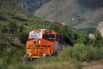 BNSF 7261, Pulling Out Of Coors Brewery