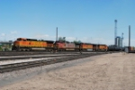 BNSF 4971 Leads South Bound Freight From Denver Yard
