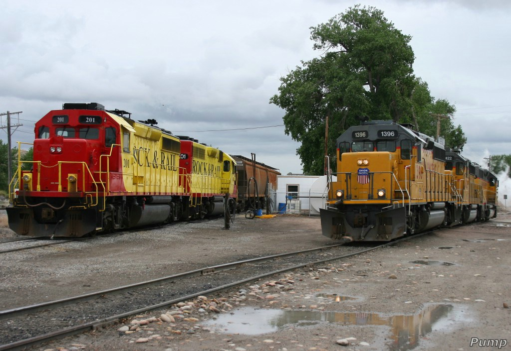Westbound UP Local and Rock & Rail Locomotives