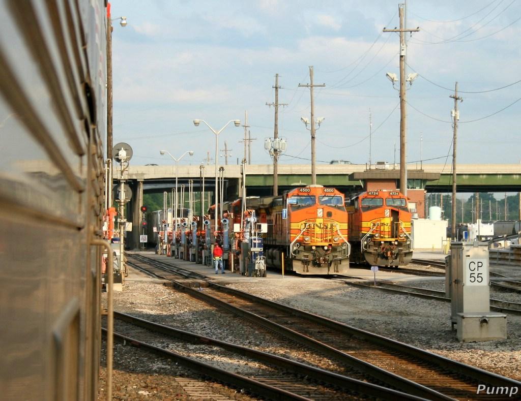 BNSF Locomotives in the Yard