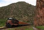 Westbound Canon City and Royal Gorge Railroad Passenger Train