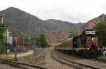 Eastbound Canon City and Royal Gorge Railroad Passenger Train