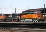 BNSF Locomotives in the Yard