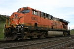 Tied Down BNSF Locomotive