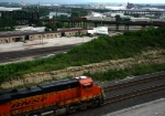 Eastbound BNSF Intermodal Passing a Westbound UP Intermodal