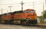 BNSF Light power with NS waiting in the wings