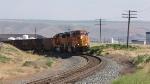 NB emty coal train climbing out of Wallula