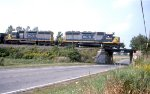 A limestone train heads East on the Falls Road, destined for the power plant in Somerset.