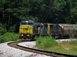 CSX G107 highballing out of town