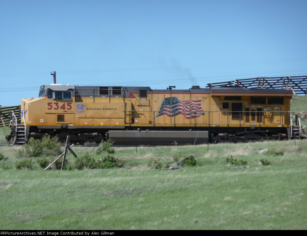 UP 5345 Southbound