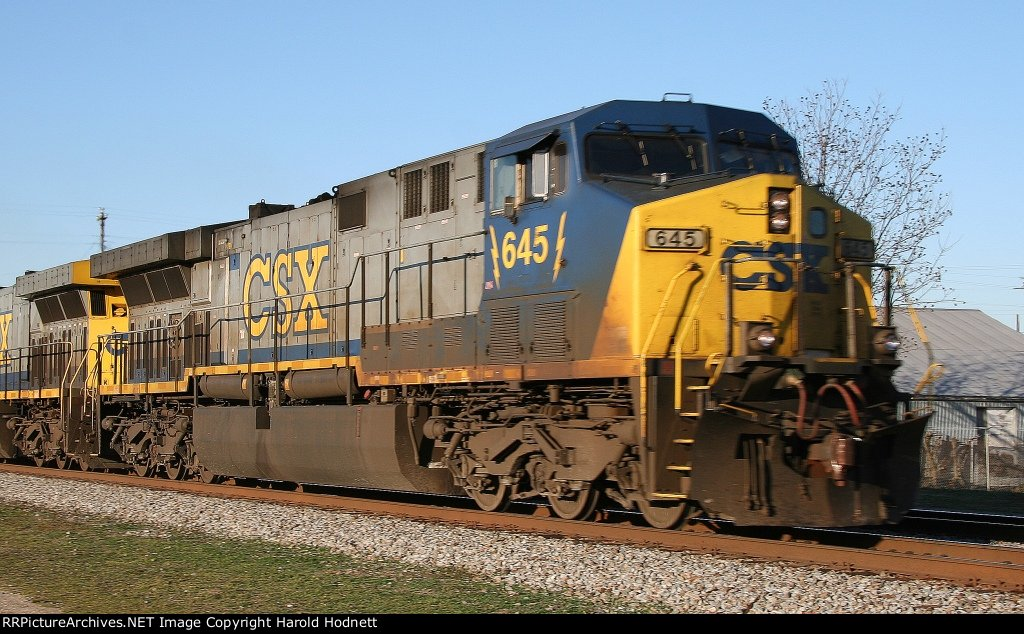 CSX 645 powers the Juice Train