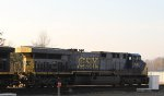 CSX 646 leads train Q438-18 out of the yard