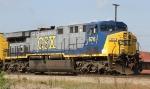 CSX 676 leads train Q439-06 towards the yard