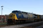 CSX 607 leads a train