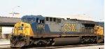 CSX 635 leads a southbound train