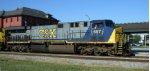 CSX 657 leads train Q740 northbound