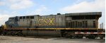 CSX 673 rolls across Bridges Street