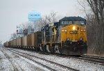 CSX 80 heads and empty coal train south through Deshler