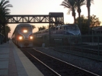 Amtrak Surfliner train meet