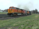 BNSF 4049 C44-9W headed for the mountains