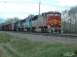 BNSF 8203 SD75M hauling empty coal drag eastbound