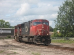 CN 386 switching the yard