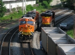 BNSF coal power stopped at Jone Ave.