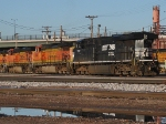 NS 7712 coupled with BNSF Units
