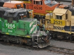 BNSF 1966 is with 3 other different BNSF paintschemes