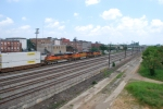 BNSF on CSX track