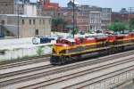 KCS heads south on CSX track