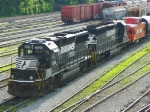 Norfolk Southern 7123 and 3223 and Caboose 555551