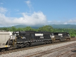 Pusher units on a loaded grain train to be taken back to Harrisonburg