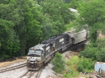 NS 9483 & 6615 start their trip North, heading to the new VPGA mill in Linville