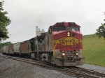 BNSF 612 & NS 9565 on the V92 grain train