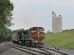 BNSF 612 & NS 9565 on the V92 grain train, working the VGPC Mill