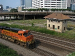 BNSF 5773 passing the Spring St. power and the Terminal Station leads