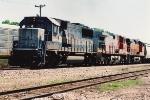 Grain train exits Willmar Sub