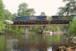 CSX 5212 leading Q602 over the Ochlockonee River