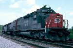 Southern Pacific SD40T-2 #8359, SD45T-2 #9370 and SD45R #7412